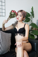 Lacey Embroidered Bra Set