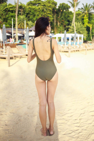 Low Back Lace Up Monokini