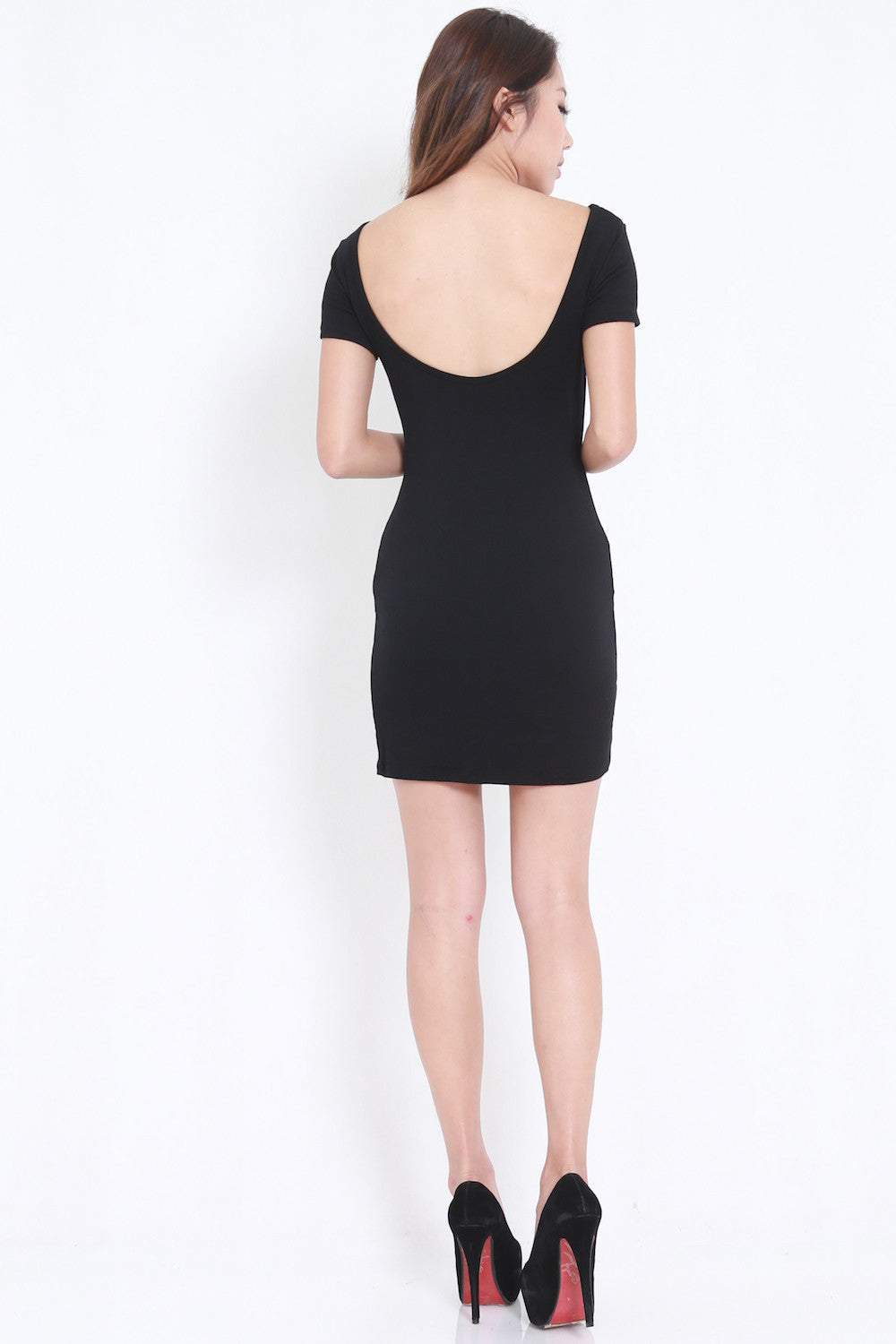 Low Back Tee Dress (Black)