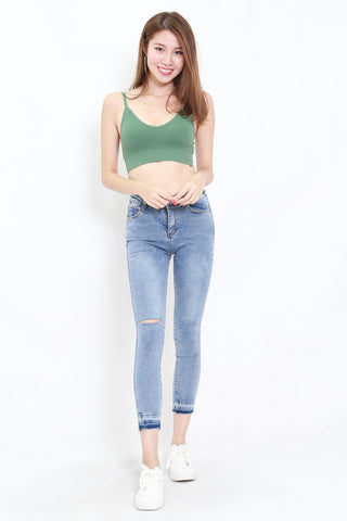 Low Back V Bralet (Green)