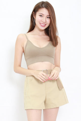 Low Back V Bralet (Khaki)