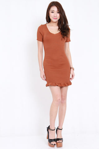Mermaid Knit Dress (Camel)