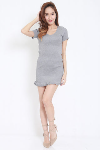 Mermaid Knit Dress (Grey) -  - 1