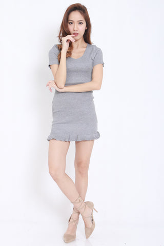Mermaid Knit Dress (Grey) -  - 2