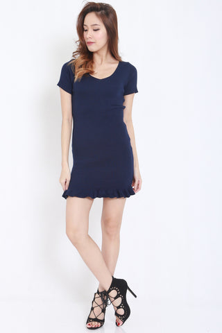 Mermaid Knit Dress (Navy) -  - 1