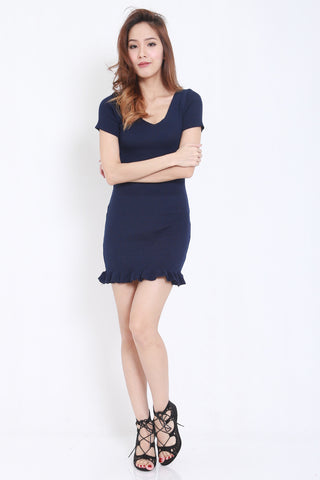 Mermaid Knit Dress (Navy) -  - 2