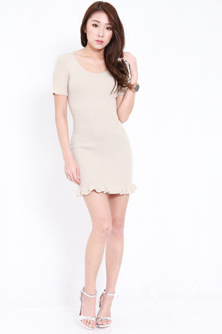 Mermaid Knit Dress (Nude)