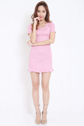 Mermaid Knit Dress (Pink) -  - 1