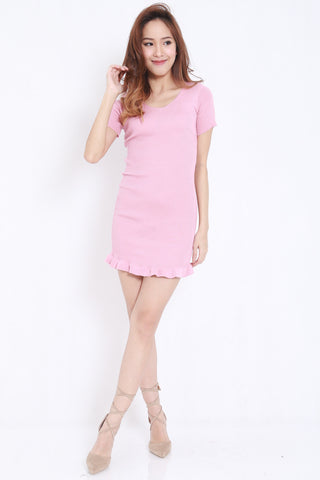 Mermaid Knit Dress (Pink) -  - 2