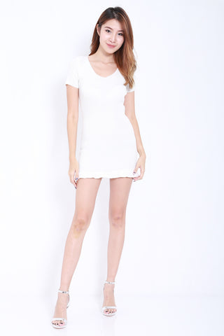 Mermaid Knit Dress (White) -  - 1