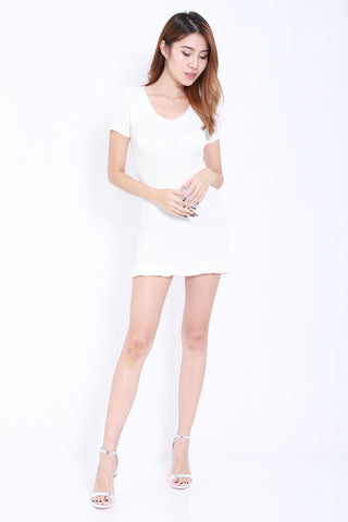Mermaid Knit Dress (White) -  - 2