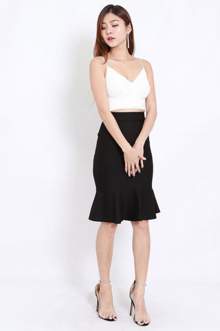 Mermaid Midi Skirt (Black)
