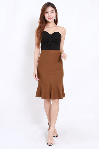 Mermaid Midi Skirt (Camel)