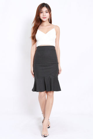 Mermaid Midi Skirt (Grey)