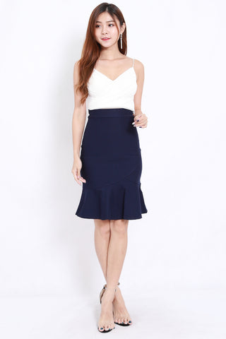Mermaid Midi Skirt (Navy)