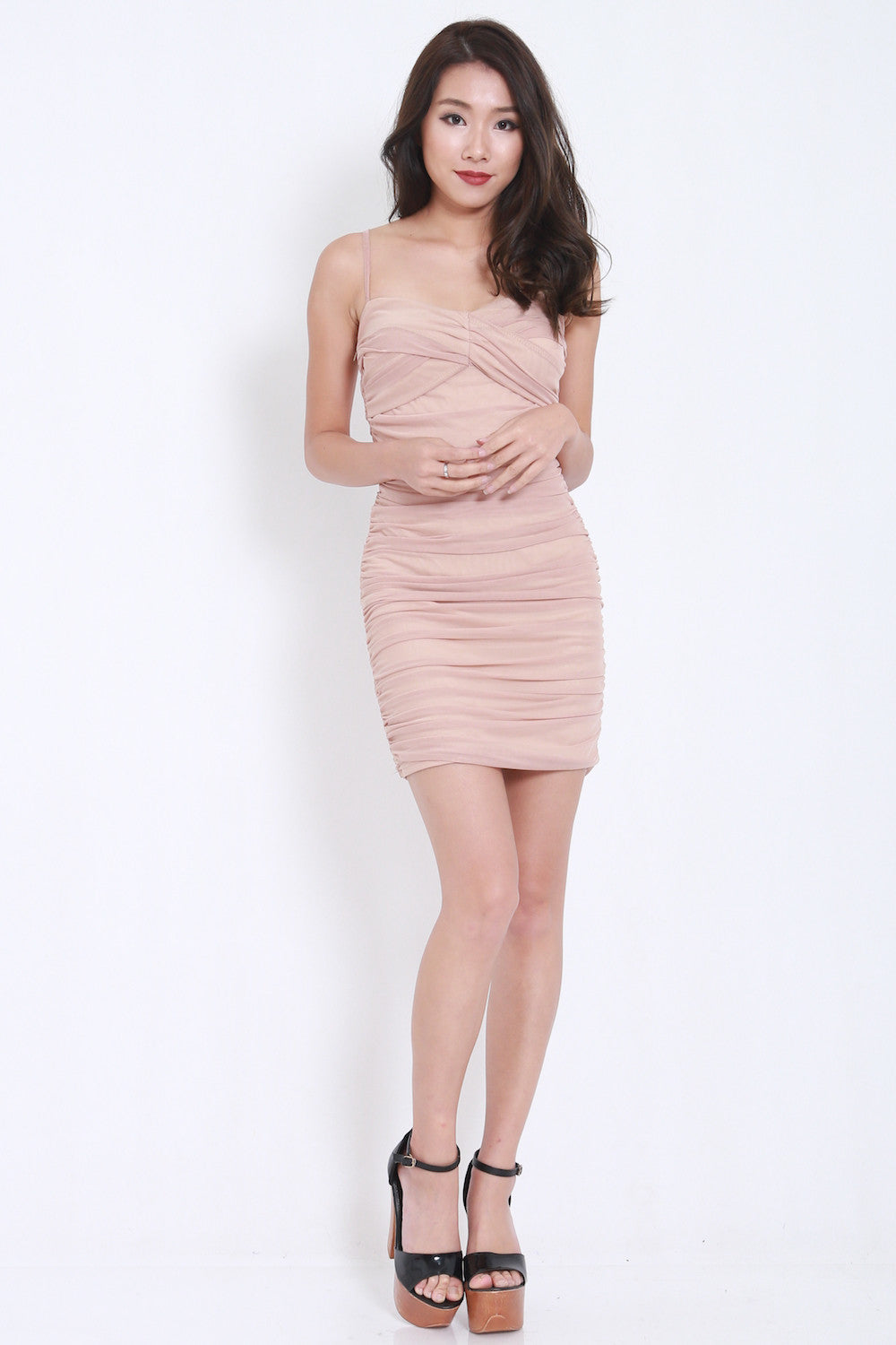 Mesh Bandage Dress (Nude) -  - 2