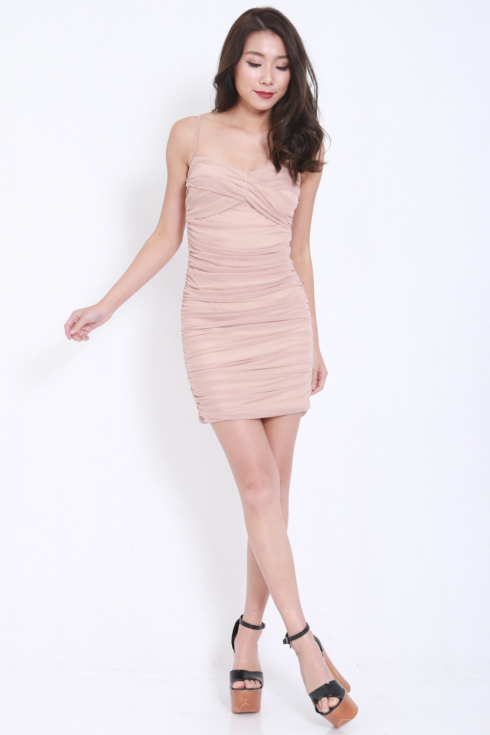 Mesh Bandage Dress (Nude) -  - 3
