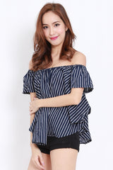 Navy Stripes Offsie