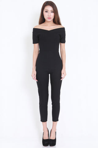 Off Shoulder Jumpsuit -  - 1