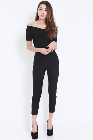 Off Shoulder Jumpsuit -  - 2