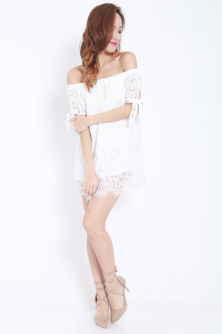 Off Shoulder Lace Dress -  - 2