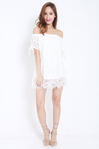 Off Shoulder Lace Dress -  - 1