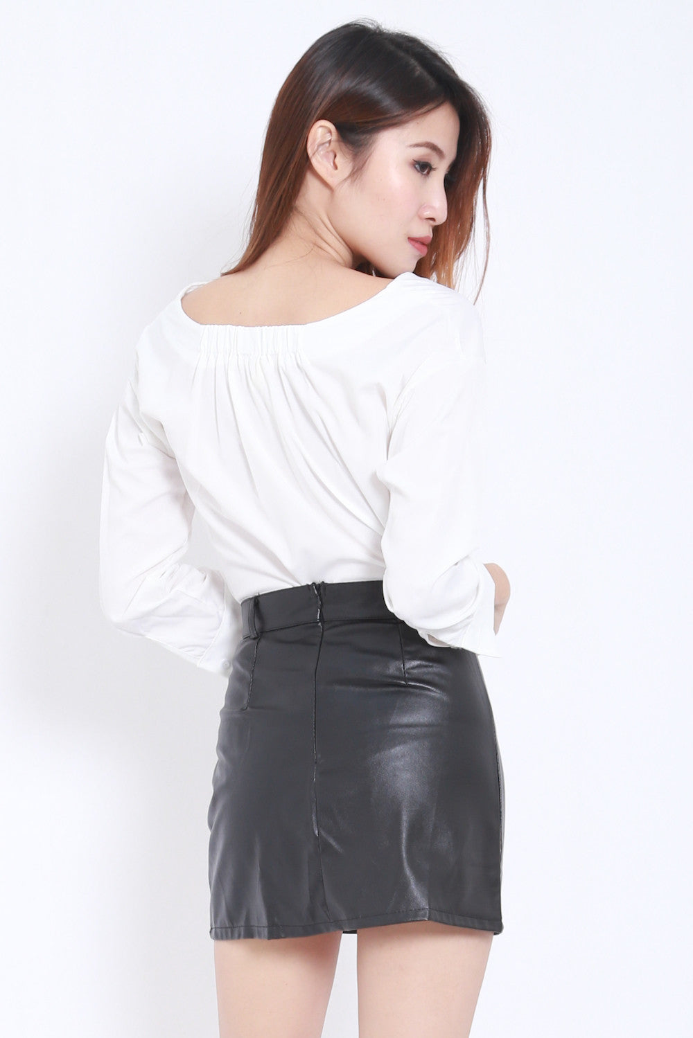 Off Shoulder White Shirt -  - 6