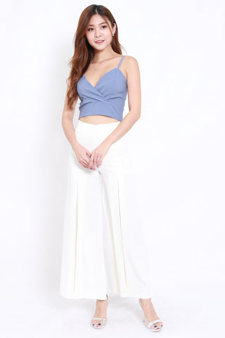 Wide Leg Flare Pants (White)