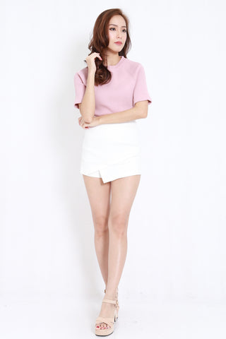 Overlap Fitted Skorts (White)
