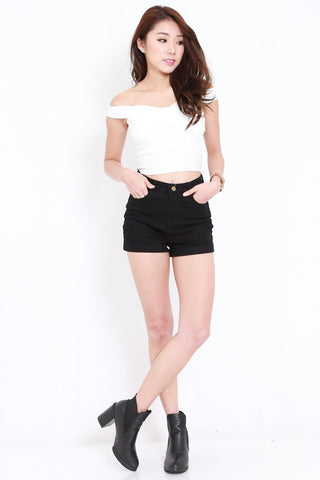 Overlap Offsie Top (White)