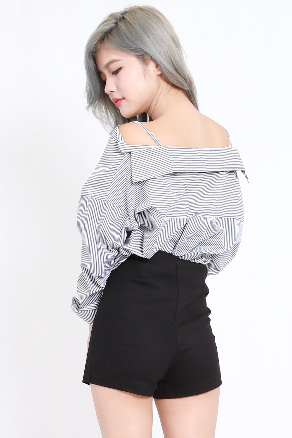 Oversize Offsie Shirt (Black Stripes)
