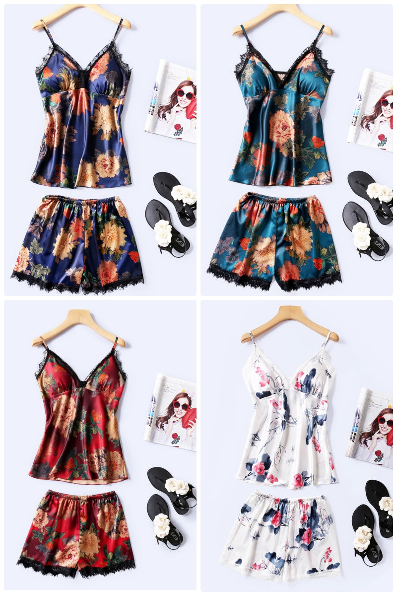 Mystic Florals 2pcs Set (Navy)