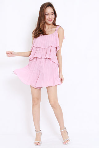 Pleated 2pcs Set (Blush)