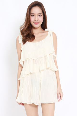 Pleated 2pcs Set (Cream)