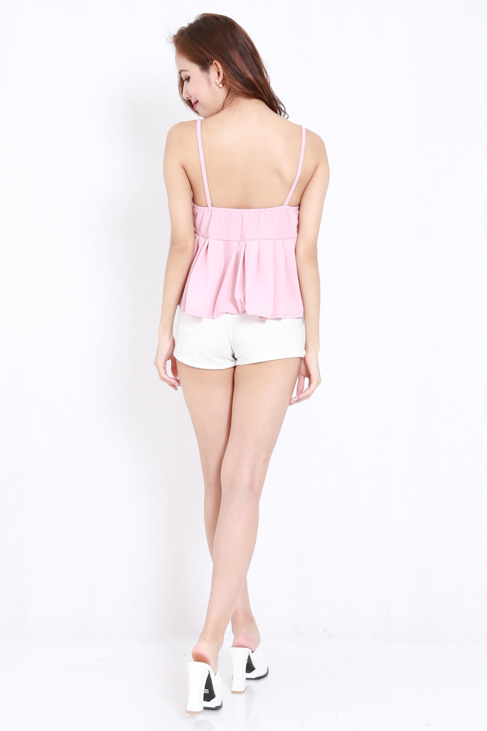 Pleated Babydoll Spag (Pink)