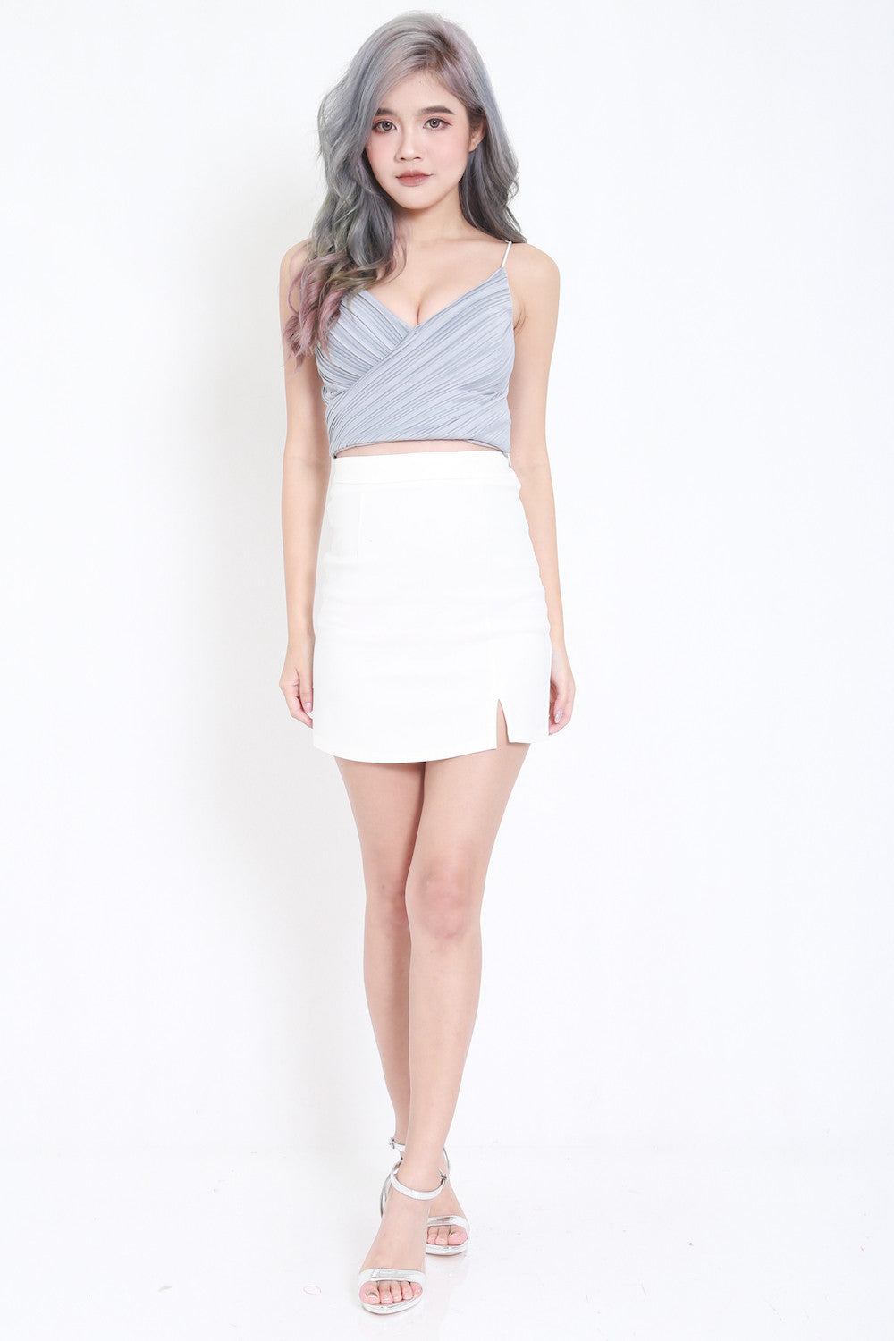 Pleated Bralet (Grey)