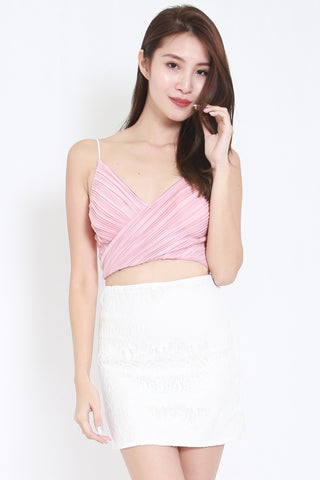 Pleated Bralet (Blush) -  - 1