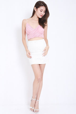 Pleated Bralet (Blush) -  - 2