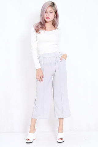 Pocket Midi Culottes (Grey)