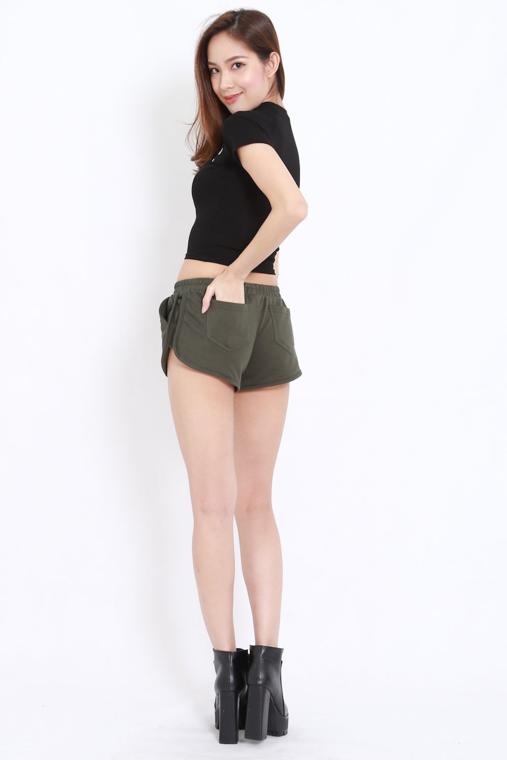 Pocket Runner Shorts (Olive)
