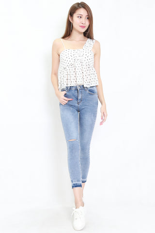 Polka Toga Top (White)