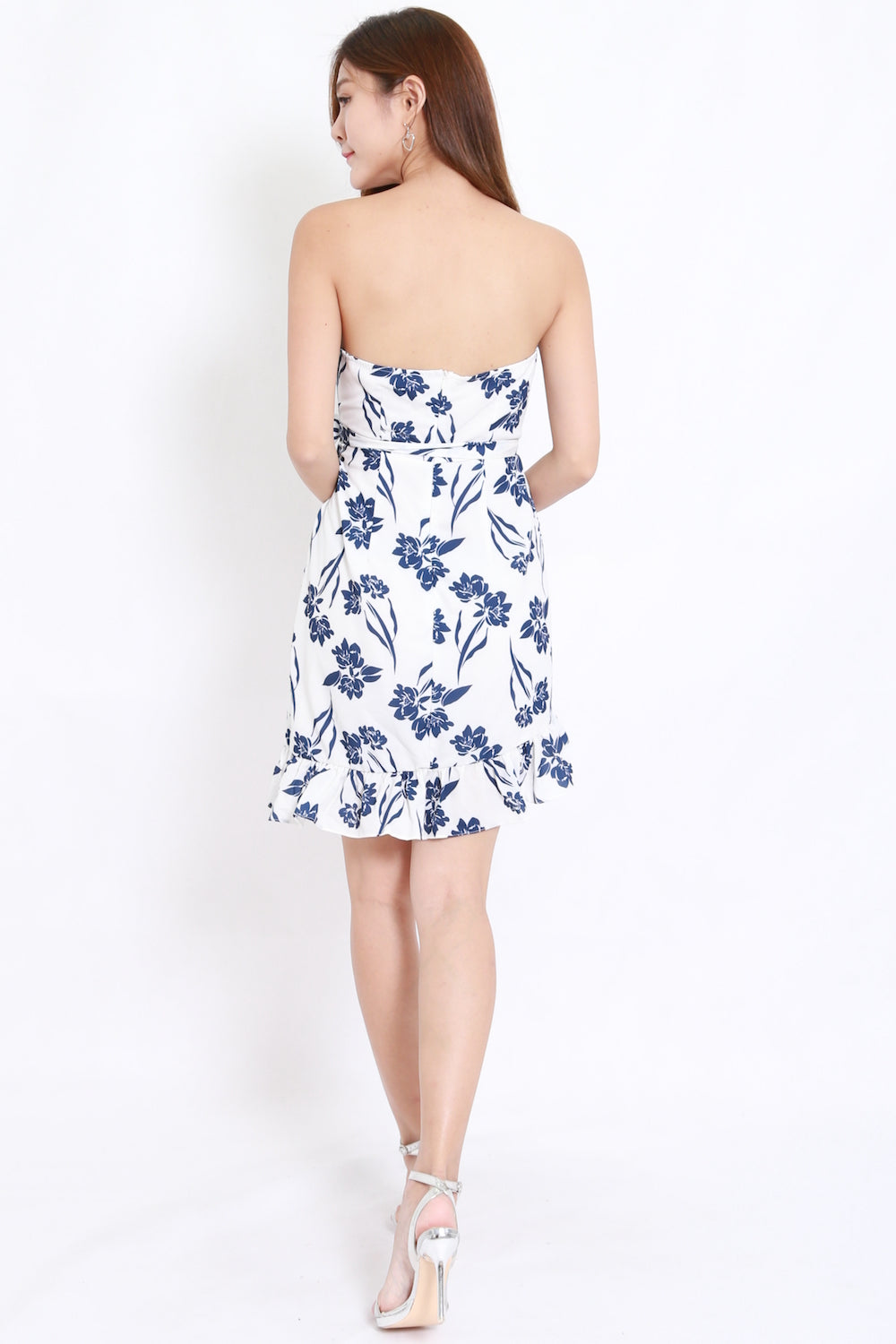 Porcelain Floral Wrap Dress