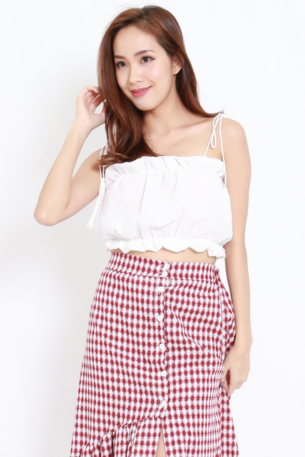 6eb98ce528e Puffy Chiffon Crop Top (White) – Carrislabelle