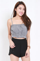 Puffy Ruffle Crop Top (Gingham)