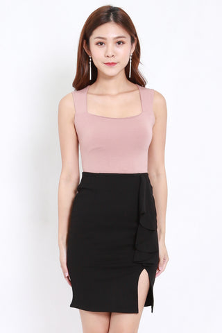Queen Anne Top (Nude-Pink)