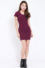 Ribbed Tee Dress (Purple)