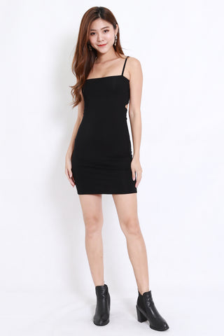 Ribbon Back Dress (Black)