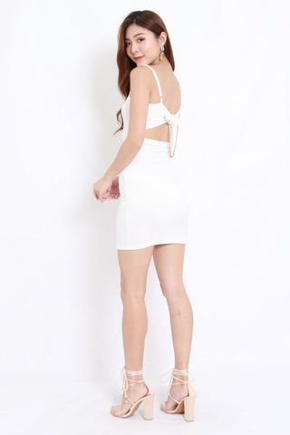 Ribbon Back Dress (White)