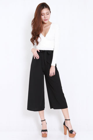 Ribbon Culottes (Black)