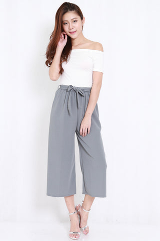 Ribbon Culottes (Grey)